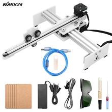 KKMOON Professional High Accuracy Single Arm Desktop Engraver Portable DIY Engraving Carving Machine Mini Carver Support APP
