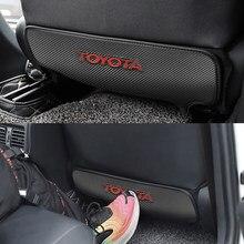 Housse de protection arrière de voiture universelle, 1 pièce, coussin Anti-coup de pied pour Toyota camry chr corolla rav4 yaris prius