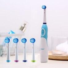 AZDENT brosse à dents électrique rotative sans recharge avec 4 têtes de brosse, outil dhygiène dentaire buccale