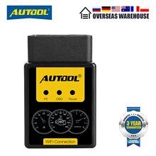 Autool A1 Obd Scanner ELM327 Bluetooth Auto Obdii Diagnostic Tool Wifi Automobiel OBD2 Elm 327 Scan Pak Iphone Android