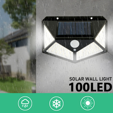 LED Solar Light Outdoor Lamp PIR Motion Sensor Wall Waterproof Powered for Garden Decoration