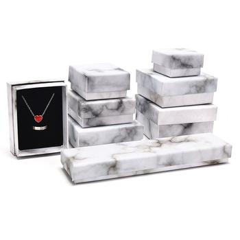 1 Pcs Square Jewelry Paper Marbling Gifts Square Box Holder Display Ring Earrings Necklace Bracelet Brooch New