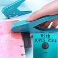 1pc Kreative Pilz Loch Puncher DIY Papier Cutter T-typ Puncher Lose Blatt Papier-cut Stanzen Maschine büros Schule Liefert