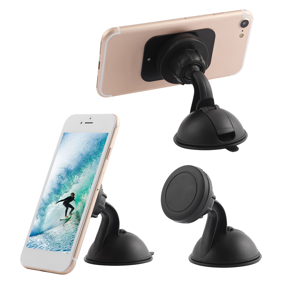Suction Cup Universal Car Phone Stand 360 Degree GPS Strong Magnetic Mobile Phone Holder For IPhone X For Samsung S9 For Huawei