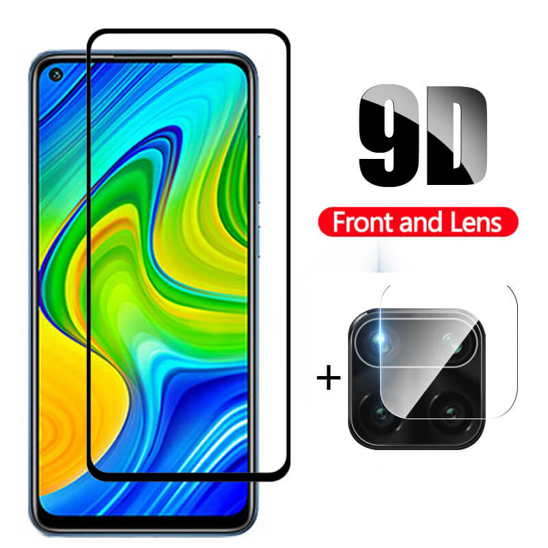 2in1 Glass For Redmi Note 9 Pro Protective Glass For Xiaomi Redmi Note 9 Pro Camera Glass Protector on Xiomi Not 9Pro Front Film(China)
