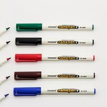 Monami nome penna F punta 1mm colore pennarelli permanenti per tessuto vetro plastica firma Namepen disegno fai da te fodera scuola A6582