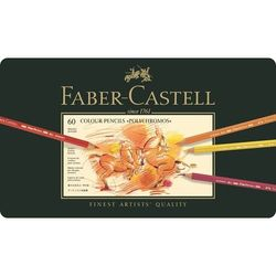 FABER CASTELL Polychromos Artista Qualità Matite di Colore 60 Set di Latta Caso