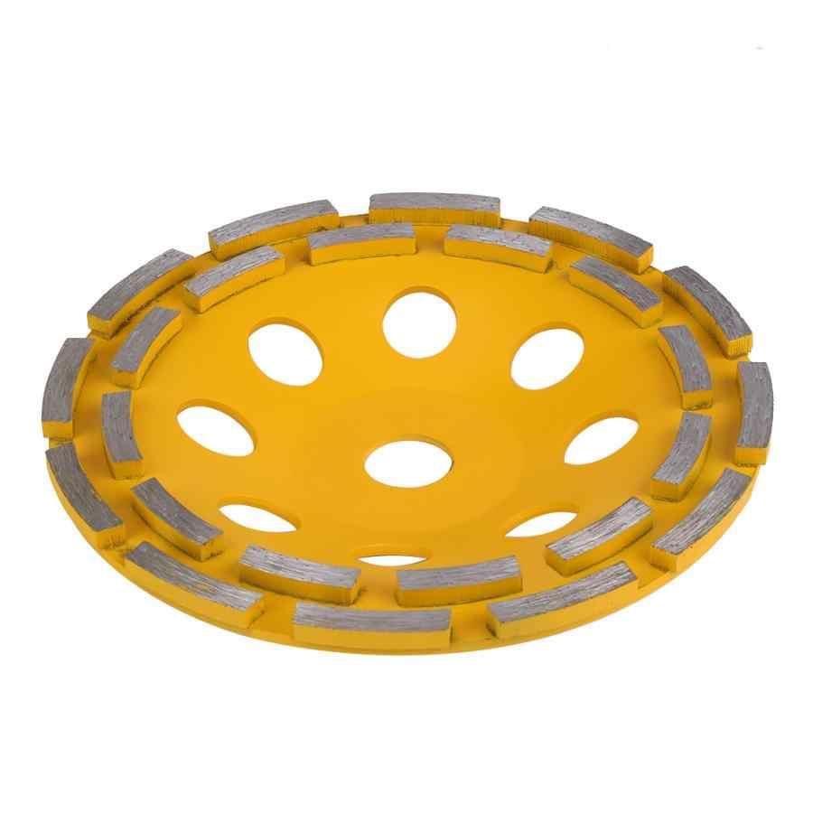 115/125/180mm Diamant Schleifen Rad Zweireihig Dreh Schleifen Schüssel Trennscheibe Für Ziegel Beton Marmor fliesen Granit Keramik