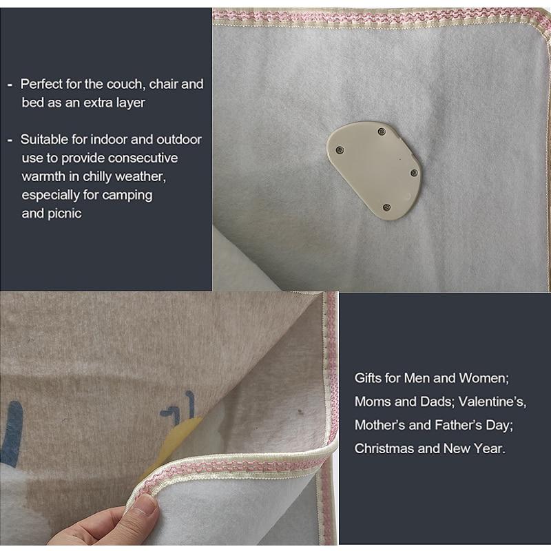 灰色电热毯三人双控细节图描述