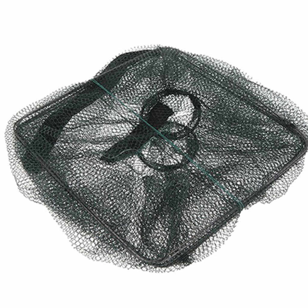 2019 새로운 물고기 함정 그물 낚시 장비 크랩 새우 새우 왕새우 랍스터 Crawdad Foldable 왕새우 포수 낚시 액세서리