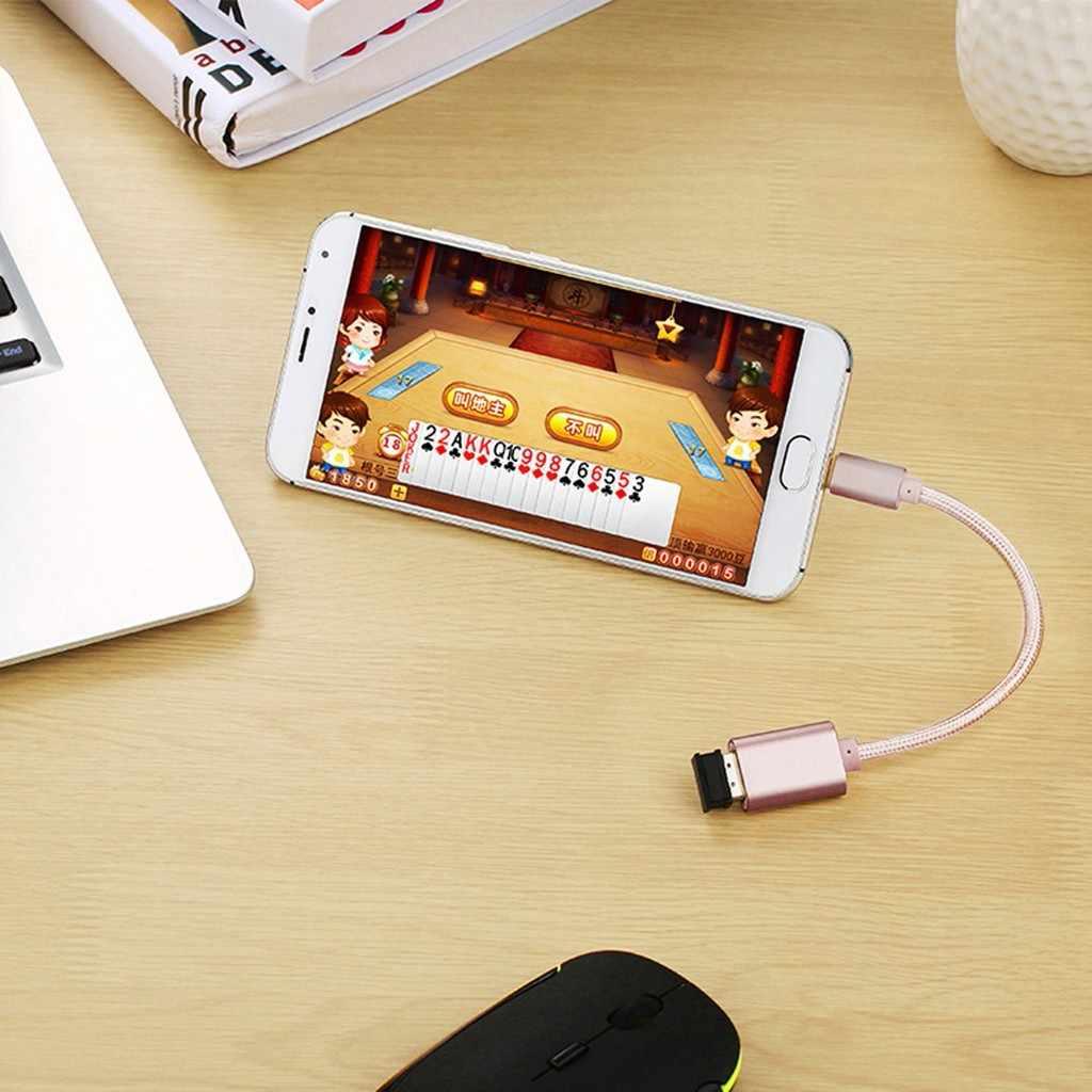 Metal USB 3,1 Micro USB/Tipo C macho a USB 2,0 hembra Cable OTG Data Sync convertidor adaptador Cable longitud 15cm para teléfono Android