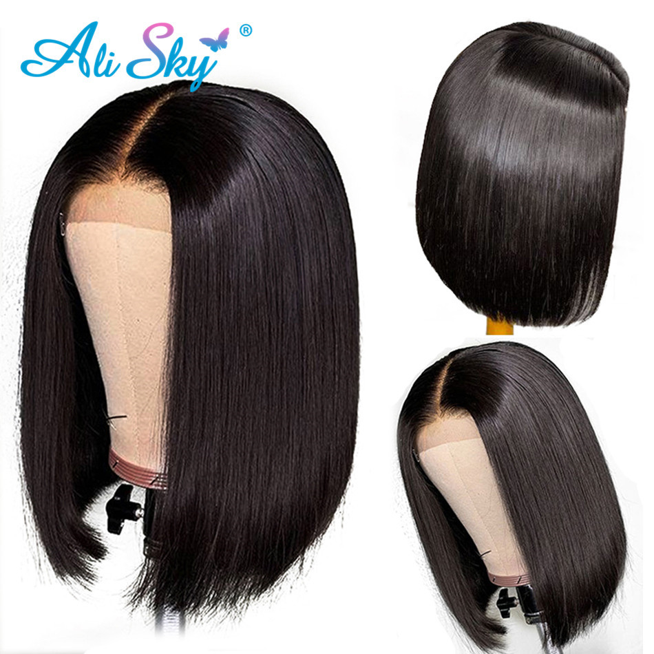 Brazilian Straight Bob Wig Lace Front Human Hair Wigs For Black Women PrePlucked With Baby Hair 13x6 Short HD Lace Frontal Wig