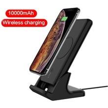 QI – chargeur sans fil 10000mAh, batterie externe Portable sans fil avec support de téléphone, pour iPhone 11 pro Max XS X Samsung