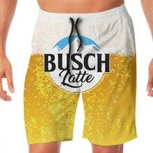 Пляжные шорты busch latte с эластичной талией повседневные мужские