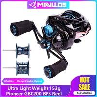 Mavllos Pioneer GBC200 BFS Fishing Reel Baitcasting Reel Left Right Hand Double Metal Spool UltraLight Fishing Bait Casting Reel|Fishing Reels| |  -