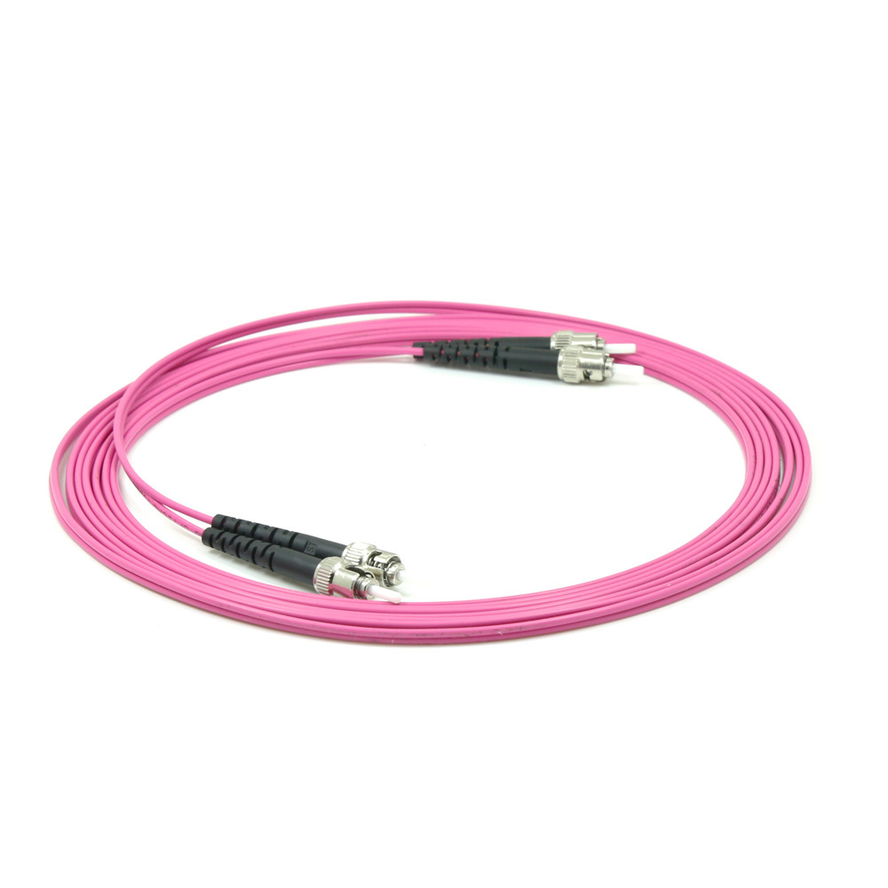 OM4 1M 2M 3M 5M 10M ST/UPC-ST/UPC 40GB Multimode Fiber Patch Cable OM4 Optical Fiber Patch Cord