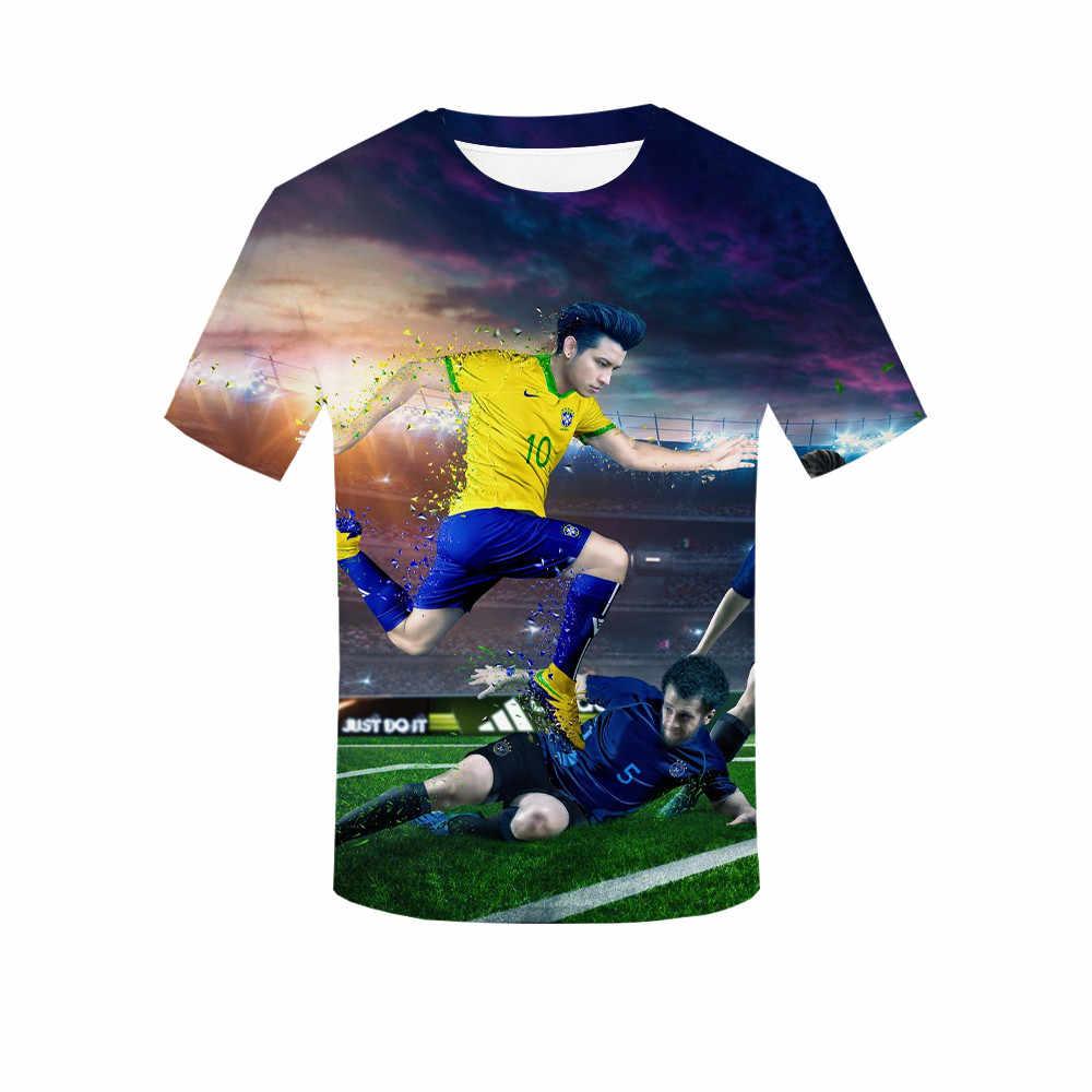 Футбол Звезда Месси футболка последние летние 3D печатных удобные полиэфирные футболки Повседневная мужская футболка Женские футболки уличная
