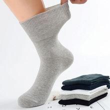 Peúgas diabéticas impedem varicosas meias para pacientes hipertensos do diabetes material de algodão de bambu 4 pares/lote