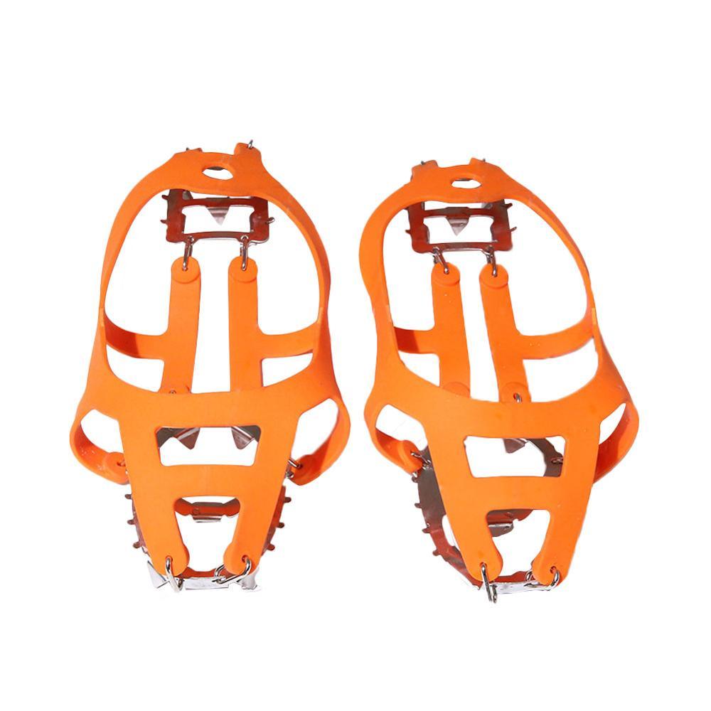 Новинка противоскользящие скалолазание обувь чехол 18 зубы коготь обувь чехол нескользящая обувь обувь чехол для ходьбы% 2C бега% 2C или пеших прогулок на снегу и Ледяной