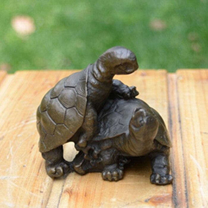 Sculpture en cuivre ornements de tortue dépendent les uns des autres accompagnés d'arts et d'artisanat bijoux ménagers cadeaux d'anniversaire de mariage F - 3