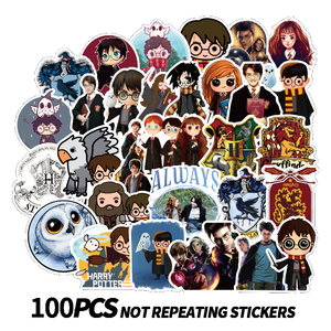 50/100PCS Cartoon HP Pottes Classic Harries Stickers Luggage Skateboard Laptop Decals Refrigerator Stationery Waterproof Sticker