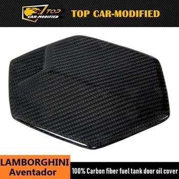 Free shipping carbon fiber car accessories 100% carbon fiber fuel tank door oil cover for Lamborghini Aventador
