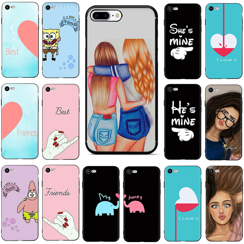 We Will Always Be Best Friends <font><b>BFF</b></font> Soft TPU Silicone Phone Cover <font><b>Case</b></font> For <font><b>iphone</b></font> 5 5s <font><b>SE</b></font> 6 6s 7 8 Plus X XR XS Max image