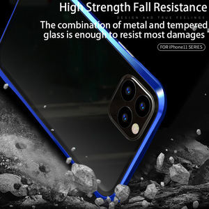 Image 2 - Metal Magnetic Privacy Case for iPhone 7 8 11 XR Samsung Note10+ S10 S9 Magnetic Case for Huawei P20 P30 Pro Anti Peeping Shell