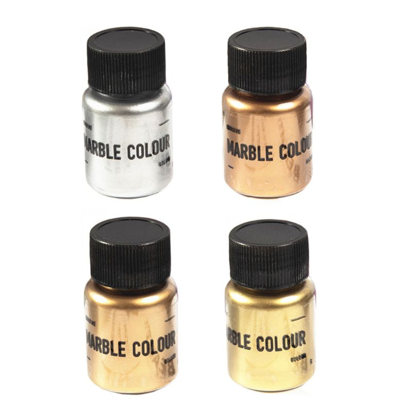 4 Color Mirror Metal Texture Pearl Powder Epoxy Resin Colorant Glitter Marble Metallic Pigment Resin Dye Jewelry Making 15g/box