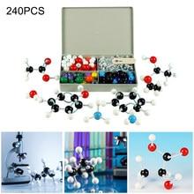 240 pces química átomo molecular modelos kit conjunto geral científico crianças conjunto de modelo educacional para a escola