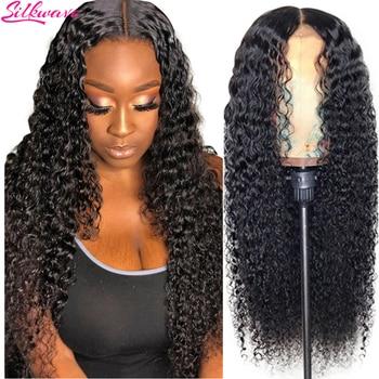Peluca de cabello humano rizado con encaje Frontal para mujer, pelucas de cabello humano con ondas profundas Hd, Bob corto de encaje completo brasileño