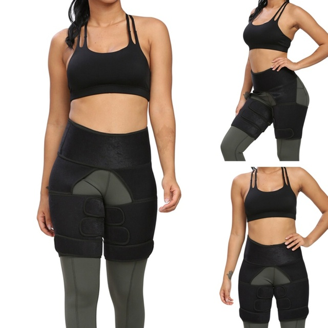 1pc Slim Thigh Trimmer Waist Shapers Slender Slimming Belt Sweat Shapewear Toned Muscles Band Thigh Slimmer Wrap  PL 1