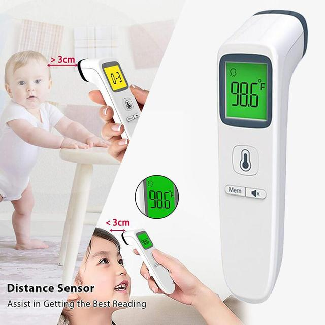 Forehead Body Thermometer Non Contact Digital Thermometer Infrared Body Temperature Gun Fever Digital Measure Tool Baby Adult