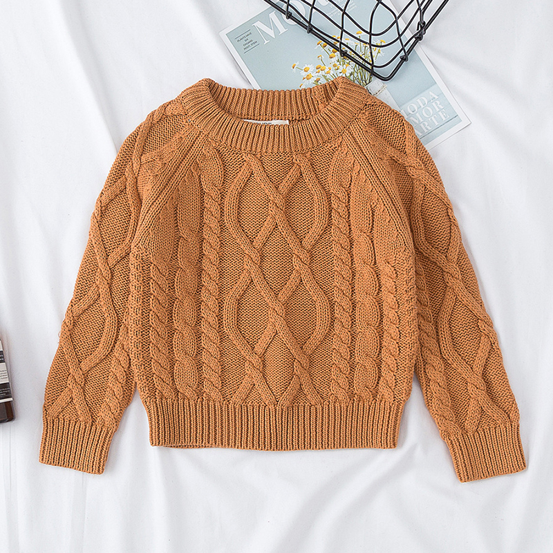Autumn Baby Boys Girls Sweaters Kids Sweaters Winter Boys Knit Sweater Girls Pullover Sweater 1-7 Yrs Boys Girls Winter Clothes 6