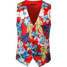 2019 High Quality Knit Jacquard Design Print Vest Men Suit Gilet Homme Wedding Slim Fit Floral Dress Vests For Waistcoats