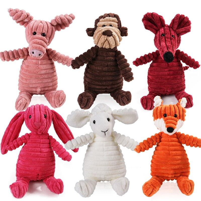 Игрушка для домашних животных, собак, Вельветовая плюшевая игрушка для животных, жевательная игрушка для собак, пищалка, шумовая игрушка дл...