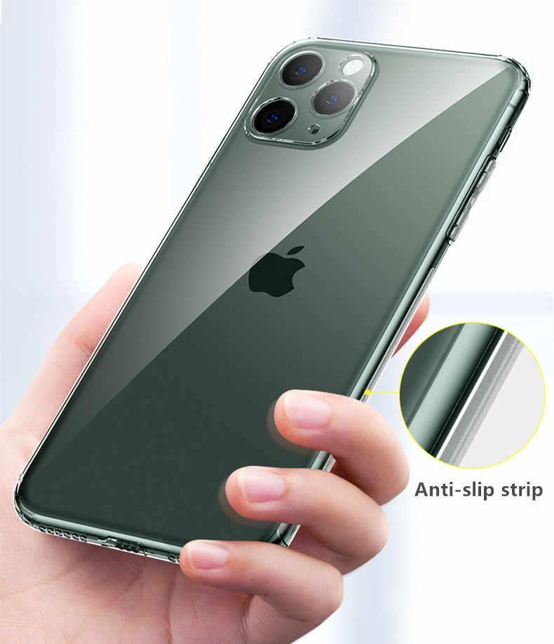 Funda de silicona de lujo a prueba de golpes para iphone XR X XS Max 6 6S 7 8 Plus funda de teléfono transparente suave moda iphone 11 PRO MAX