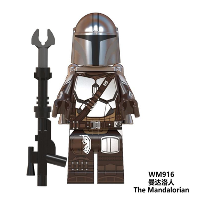 LEGOED StarWars PG8282 солдат, Штурмовик мандалор, имперская звезда, минифигурные войны, механический робот, строительные блоки, детские игрушки
