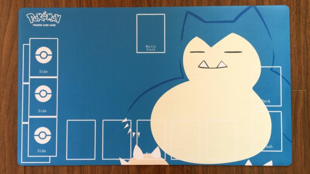 Takara Tomy PTCG Accessories Pokemon Playmat Table Card Game Snorlax Toys For Children