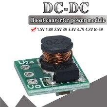 WAVGAT 0.9 5V için 5V DC DC Step Up güç modülü gerilim Boost dönüştürücü kurulu 1.5V 1.8V 2.5V 3V 3.3V 3.7V 4.2V için 5V