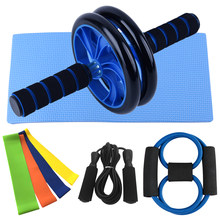 8 in 1 Ab Roller Jump Rope Sport Home Abdominal Wheel with Mat Resistance Band For Arm Waist Leg Workout Gym Fitness Equipment(China)