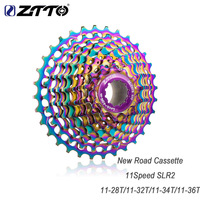 ZTTO COLORFUL SLR CNC Road Bike 11 Speed 11 28/32/34/36T Bicycle Cassette Freewheel Ultralight Flywheel Sprocket parts for HG