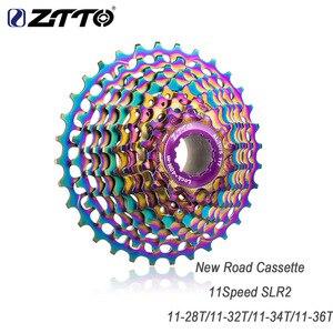 ZTTO COLORIDO SLR CNC Bicicleta de Estrada Velocidade 11-28 11/32/34/36 T Cassete Bicicleta roda livre Ultraleves peças da Roda Dentada do Volante para HG