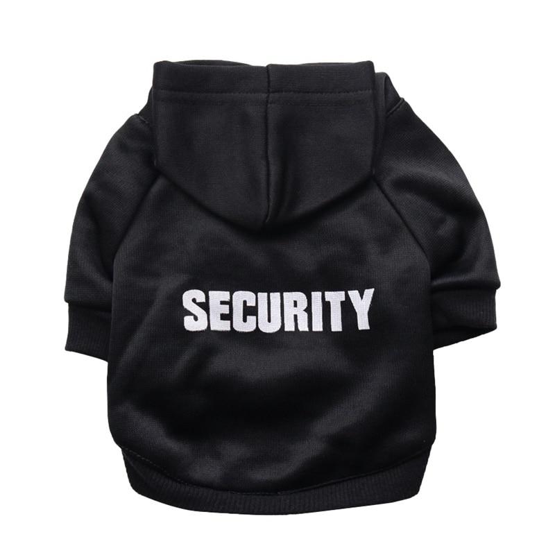 Security Dog Cat Clothes Pet Cat Coats Jacket Hoodies For Cats Dog Outfit Warm Pet Clothing Rabbit Animals Pet Sweatshirt 4