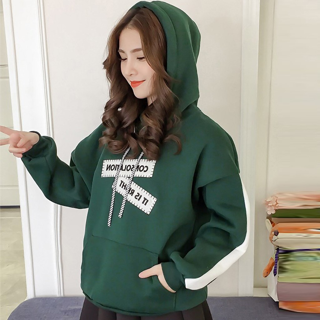 Fashion Women Letter Printing Hoodie Top Sweatshirt Long Sleeve 2020 Lady Pullover Hoodies Female Autumn Winter Tracksuit Hoody