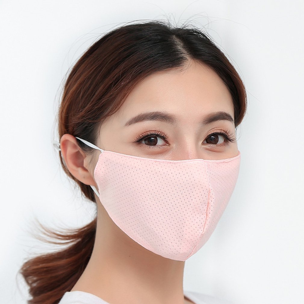 Summer Thin Sunscreen Ice Silk Mouth Mask Breathable And Washable Health And Beauty Sunscreen Face Mask Personal Care Products