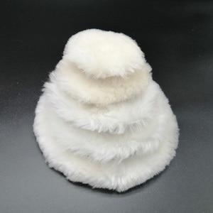 Image 2 - 100% Lambs Wool Polishing Pad สำหรับ Polisher รถรายละเอียดเสร็จสิ้นกระจกขัด3/4/5/6/7นิ้ว