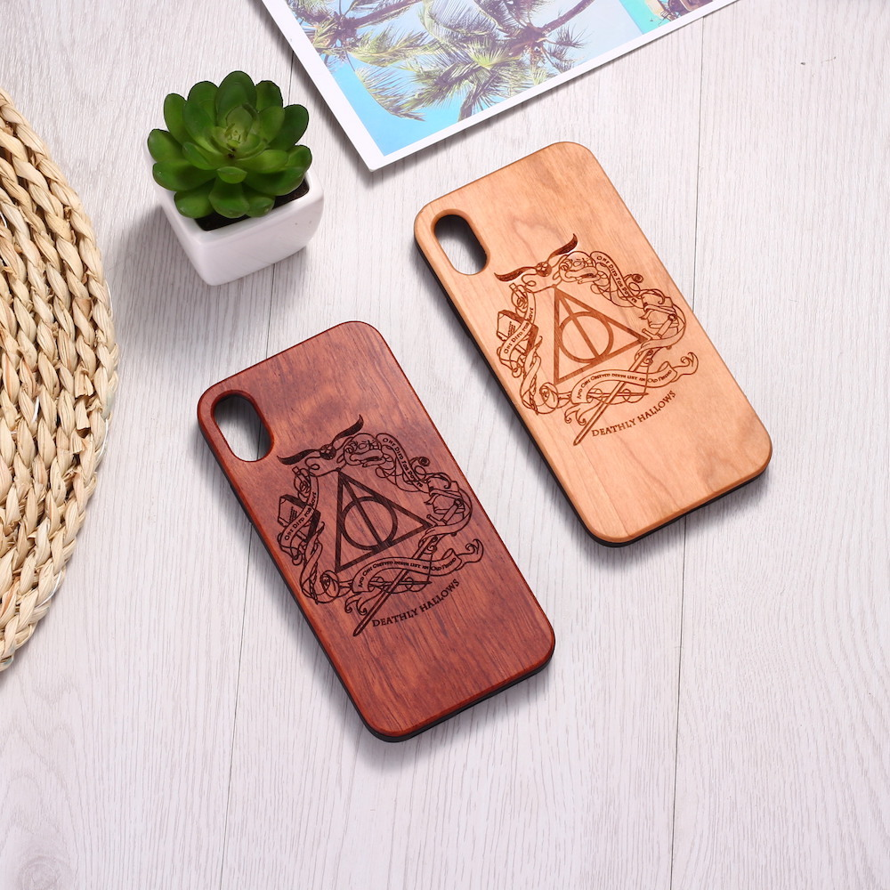 Wizard Magical Ticket Engraved Wood Phone Case Coque Funda For iPhone 6 6S 6Plus 7 7Plus 8 8Plus XR X XS Max 11 Pro Max