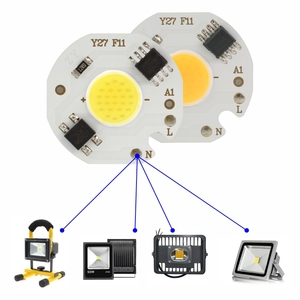 10 teile/los 3W 5W 7W 9W LED COB Chip 220V Smart IC Keine Notwendigkeit Fahrer led-lampe Lampe für Flutlicht Scheinwerfer Downlight Diy Beleuchtung