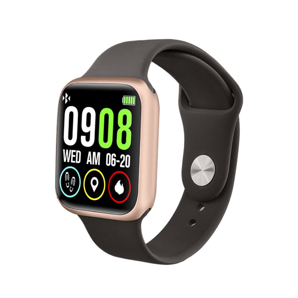 Smart watch P90 heart rate blood pressure fitness tracker IP68 waterproof for apple 38mm steel band for Android IOS smart watch